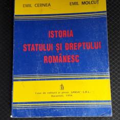 Istoria Statului Si A Dreptului Romanesc - Emil Cerna,Emil Molcut