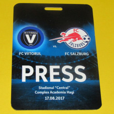 Acreditare meci fotbal FC VIITORUL - RED BULL SALZBURG (17.08.2017) - Bilet meci