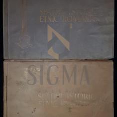 SPATIUL ISTORIC SI ETNIC ROMANESC, 1942, Bucuresti (DOUA ALBUME, RARITATE !!!) - Carte de colectie