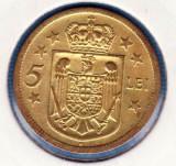 (R) MONEDA ROMANIA - 5 LEI 1930 H, REGENTA , MIHAI I