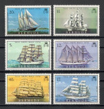 BERMUDA 1976 - CORABII CU PANZE - SERIE DE 6 TIMBRE - NESTAMPILATA - MNH / navigatie109