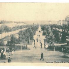 4173 - TURNU-SEVERIN, Park - old postcard, CENSOR - used - 1918 - Carte Postala Oltenia 1904-1918, Circulata, Printata