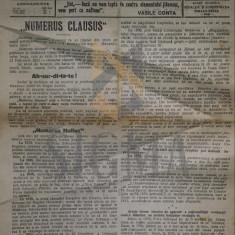 A. C. CUZA ( Director ) - NATIONALISTUL organ popular al Partidului Nationalis-Democrat - ziar antisemit ! 2 sept 1923