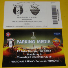 Bilet meci fotbal + parking ASTRA GIURGIU - AS ROMA (08.12.2016)