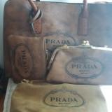 Set 3 genti + portofel Prada  - piele ecologica