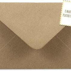Plic/plicuri colorate invitatii/felicitare 114 x 162 mm (C6) - Kraft reciclat/Vintage EM114KRAFT