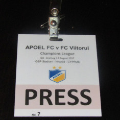Acreditare meci fotbal APOEL NICOSIA - FC VIITORUL (02.08.2017) - Bilet meci