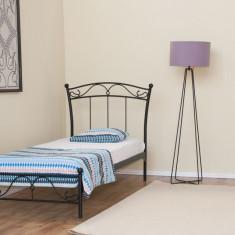 Pat fier forjat Andreea (cu tăblie mică) 900x2000 - Pat dormitor