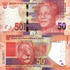 AFRICA DE SUD 50 rand 2013-2016 UNC!!! - bancnota africa