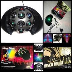 SEMISFERA GLOB LUMINOS + BATERII CADOU JOC LUMINI INDOOR LED-uri LUPA RGB USB DJ