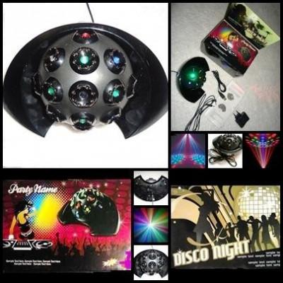 SEMISFERA GLOB LUMINOS + BATERII CADOU JOC LUMINI INDOOR LED-uri LUPA RGB USB DJ foto