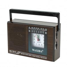 Radio portabil cu ceas quartz, 5 benzi frecventa, Waxiba - Aparat radio