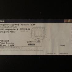 Bilet meci fotbal UNGARIA - ROMANIA 04.09.2015