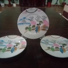 Set Trei Farfuri Portelan Chinezesc Japonez