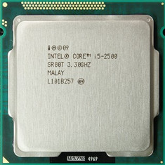 Procesor Intel Quad Core i5-2500 SandyBridge, 3, 3GHz, 6MB, socket 1155+cooler - Procesor PC Intel, Intel Core i5, Numar nuclee: 4, Peste 3.0 GHz