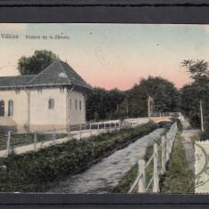 RAMNICU VALCEA VEDERE DE LA ZAVOIU CIRCULATA 1909 TCV - Carte Postala Oltenia 1904-1918, Printata