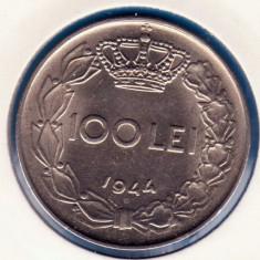 (R) MONEDA ROMANIA - 100 LEI 1944, MIHAI I, STARE FOARTE BUNA, An: 1943