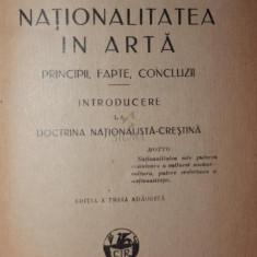 NATIONALITATEA IN ARTA - A . C . CUZA - Carte Arhitectura