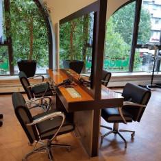 Mobilier coafor- 13 scaune si 4 casti profesionale