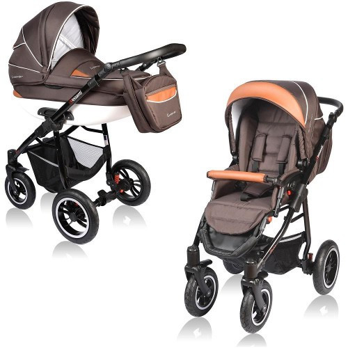 Carucior Crooner 2 in 1 Brown foto mare