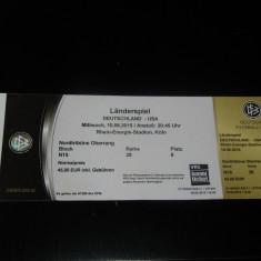 Bilet meci fotbal GERMANIA - USA (10.06.2015)