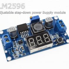 sursa dc-dc step down lm2596 intrare 3 - 40 V iesire 1.5V - 38V cu afisaj led