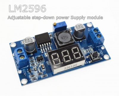 sursa dc-dc step down lm2596 intrare 3 - 40 V iesire 1.5V - 38V cu afisaj led foto