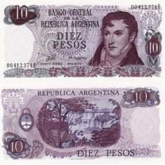 ARGENTINA 10 pesos ND UNC!!! - bancnota america