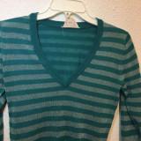 Pulover dungi turquoise-argintiu, Turcoaz