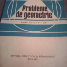 CULEGERE PROBLEME DE GEOMETRIE CLASELE VI-VIII A.HOLLINGER 1982 STARE EXCELENTA - Culegere Matematica