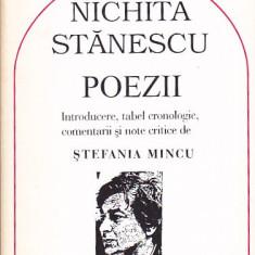 NICHITA STANESCU - POEZII ( COMENTARII SI NOTE CRITICE DE STEFANIA MINCU )