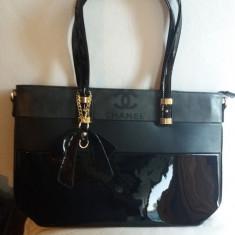 Geanta Coco Chanel - piele ecologica lacuita - Geanta Dama, Culoare: Negru, Marime: Mare