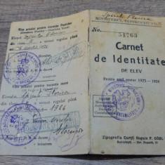 Carnet de identitate elev 1925-26/ Scoala Speciala de Broderii si Tesaturi, Iasi - Diploma/Certificat