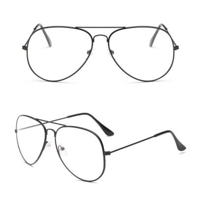 Ochelari lentila transparenta protectie model aviator negri + toc inclus foto