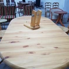 Masa din lemn masiv rabatabila - Masa living