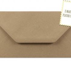 Plic/plicuri colorate invitatii/felicitare 110x220mm (DL) - Kraft reciclat/Vintage EM110Kraft
