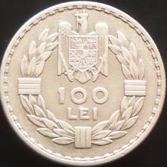 MONEDA ISTORICA ARGINT 100 Lei- ROMANIA anul 1932 *cjaCOD 67 --- SUPERBA LONDRA! - Moneda Romania