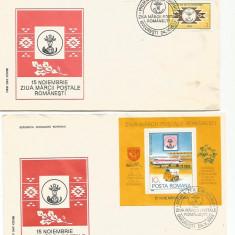 (No4) FDC ROMANIA -1983 LP 1082-3 ZIUA MARCII POSTALE ROMANESTI, An: 1968