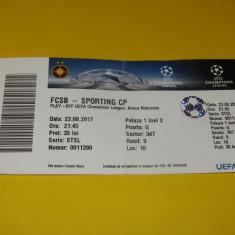Bilet meci fotbal STEAUA BUCURESTI - SPORTING LISABONA (23.08.2017)