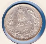 (R) MONEDA DIN ARGINT ROMANIA - 250 LEI 1939,REGELE CAROL II,LIVRARE IN CARTONAS