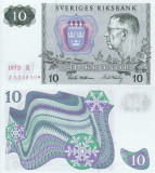 SUEDIA 10 kronor 1975 REPLACEMENT UNC!!!