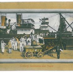 4193 - GALATI, harbor, ship - old postcard - used - 1912 - Carte Postala Moldova 1904-1918, Circulata, Printata