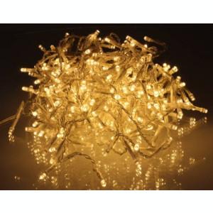 Perdea luminoasa tip turturi 300 LED-uri albe lumina calda cu jocuri de lumini calbu transparent WELL