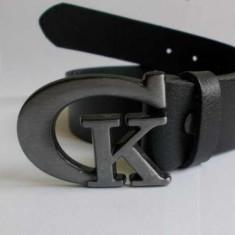 Curea neagra din piele naturala model Calvin Klein - Curea Barbati Calvin Klein, Marime: L/XL, Culoare: Negru, curea si catarama