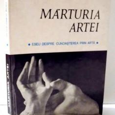 MARTURIA ARTEI, ESEU DESPRE CUNOASTEREA PRIN ARTA de VICTOR ERNEST MASEK, 1972 - Carte Istoria artei