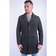 Palton Lung Lana Cu Nasturi Only&Sons Abel Coat Frost Gri - Palton barbati, Marime: L