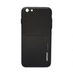 Husa iPhone 6 spate gentleman Remax Carbon - Husa Telefon Remax, Negru