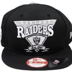 Sapca New Era - Oakland raiders - NFL snapback - marime reglabila rap hip hop - Sapca Barbati, Marime: Alta, Culoare: Negru