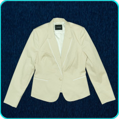 NOU, DE FIRMA→ Sacou dama, frumos, elegant, modern, calitate ORSAY→ femei | m.40, Culoare: Bej, Bumbac