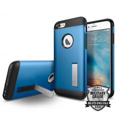 Husa Protectie Spate Spigen Slim Armor Electric Blue pentru Apple iPhone 6 / 6S - Husa Telefon